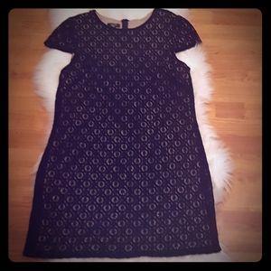 SIZE 14 Suzi Chin Black Lace Short Dress